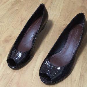 Gianni Bono brown wedge shoes